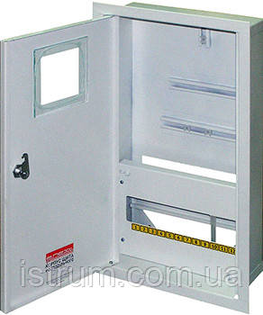 Шкаф распределительный e.mbox.stand.w.f3.12.z.e под трехфазный электронный счетчик+ 12 мод.страиваемый замком