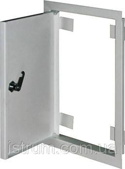 Дверцы металлические ревизионные  e.mdoor.stand.250.500.z 250х500м c замком
