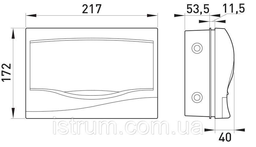 Корпус пластиковый 9-модульный e.plbox.stand.w.09, встраиваемый