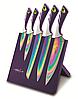 Набор ножей на магнитной подставке BS 9036 bordo