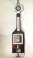 Морской декор, 50х12 см, весло, часы, фоторамка, Морские сувениры, Морские декоры