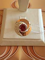 Серебреное  кольцо со вставками золота 375 пробы.