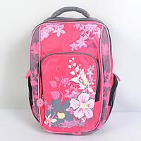 Модный школьный рюкзак в цветок для девочки - 87-1075
