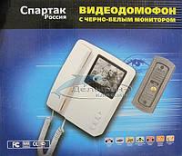 ЧБ видео домофон Спартак видеодомофон + вызывная панель