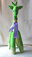 Авторская текстильная кукла ручной работы Жираф Бони. Подарок на Новый год