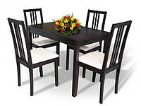 Стол в гостиную деревянный раскладной Сид 120(+30)х70х75 (венге, орех, белый бежевый)
