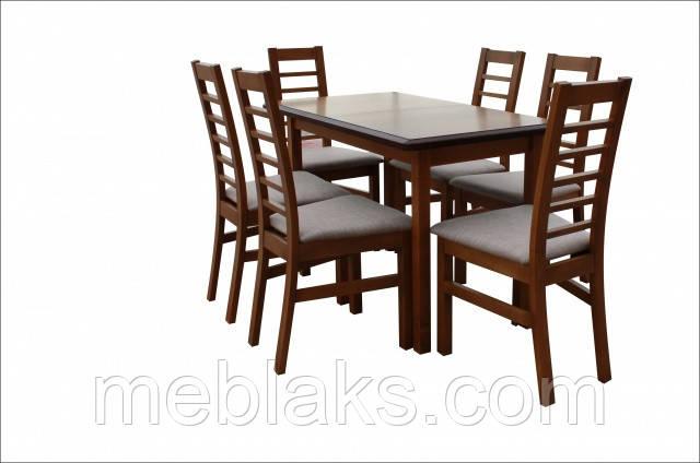 """Стол кухонный деревянный раскладной """"Сид"""" 120(+30)х70х75 Fusion Furniture"""
