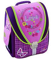 """Правильный каркасный рюкзак-трансформер 6+ для девочки, ортопед CFS 14"""", """"Love"""" 710 CF85600 сиреневый"""