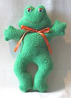 Детская кукла ручной работы жаба Гринуля