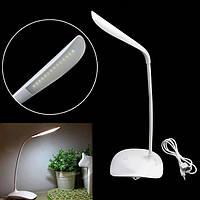 Лампа настольная LED с аккумулятором сенсорная USB лампа светильник