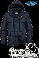 Куртка зимняя мужская на меху Braggart Dress Code - 4719C темно-синяя