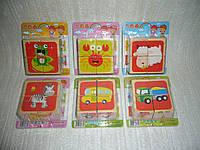Деревянная игрушка деревянные кубики 6 видов