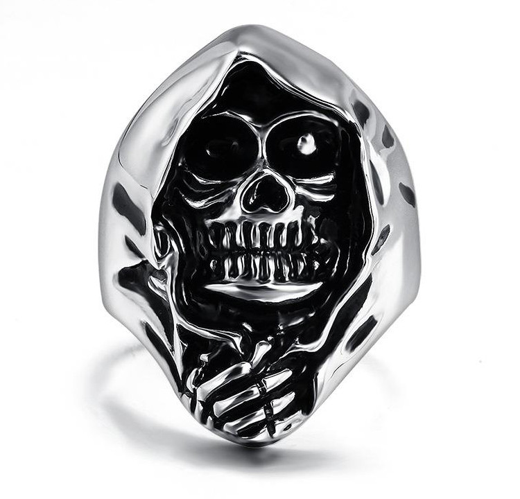 Печатка мужская серебряная Череп КЦ-86 Б