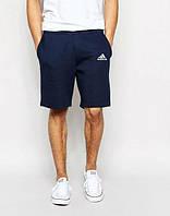 Мужские спортивные шорты Adidas синего цвета с белым логотипом, фото 1