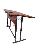 Парта регулируемая с наклоном и подстаканниками, школьная парта от фабрики мебели