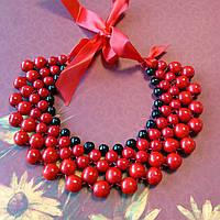 Буси Кольє (червоно-чорні) - дерево