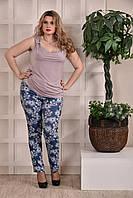 Женская летняя блузка бежевая 0246-2 , с 42 по 74 размер