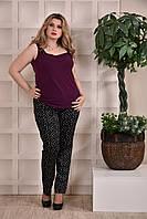 Женская летняя блузка фиолетовая 0246-3 , с 42 по 74 размер