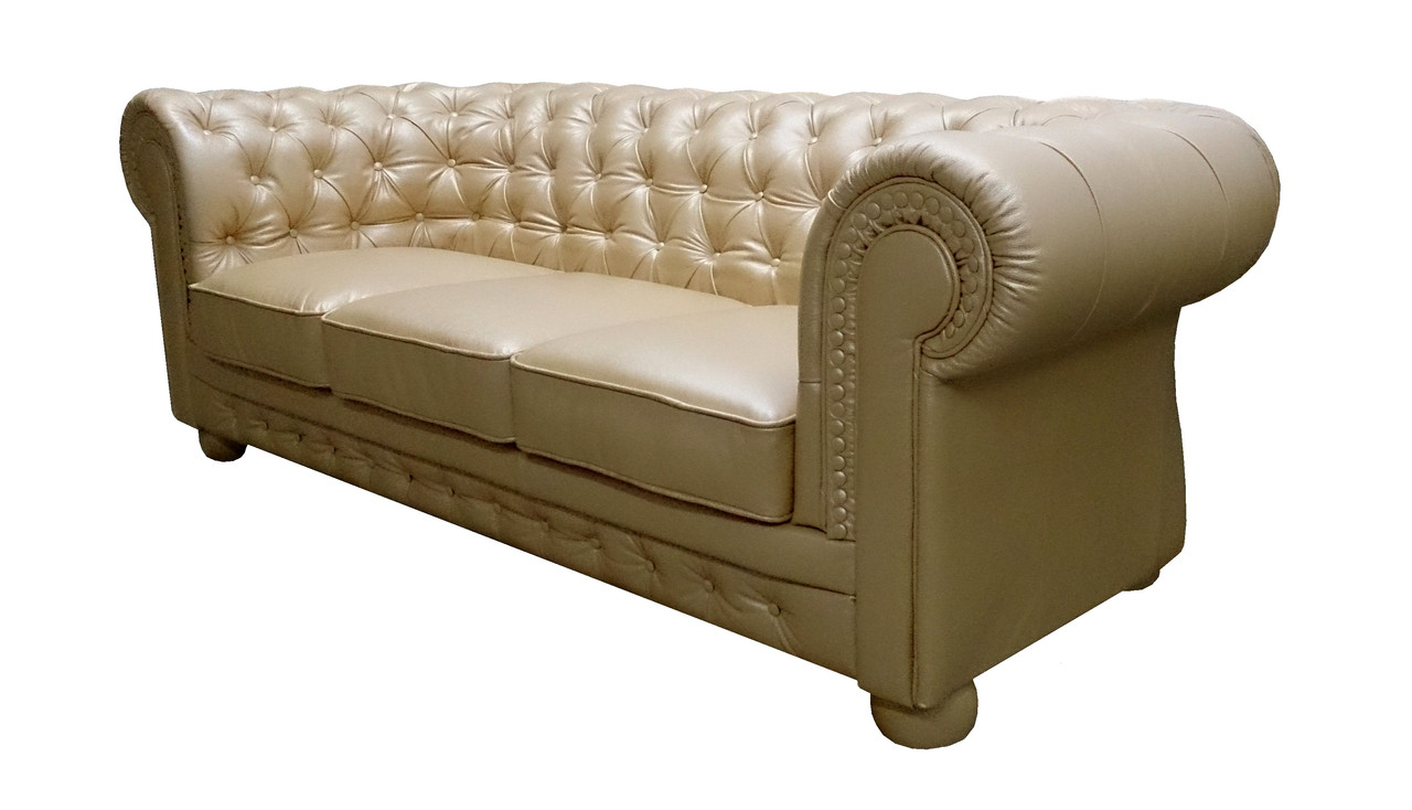 "Кожаный диван Честер ""Chester"", (декор пуговицами)"