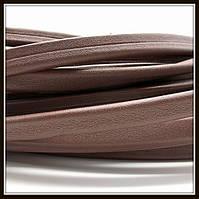 Шнур кожаный 10*5 мм, цвет коричневый (20 см)
