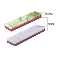 Точильный двусторонний камень 3000 грит/10000 грит, рубин агат, полировка, grit