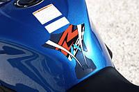 Наклейка на бак Suzuki синяя GSX-R600 / 750 2011 -