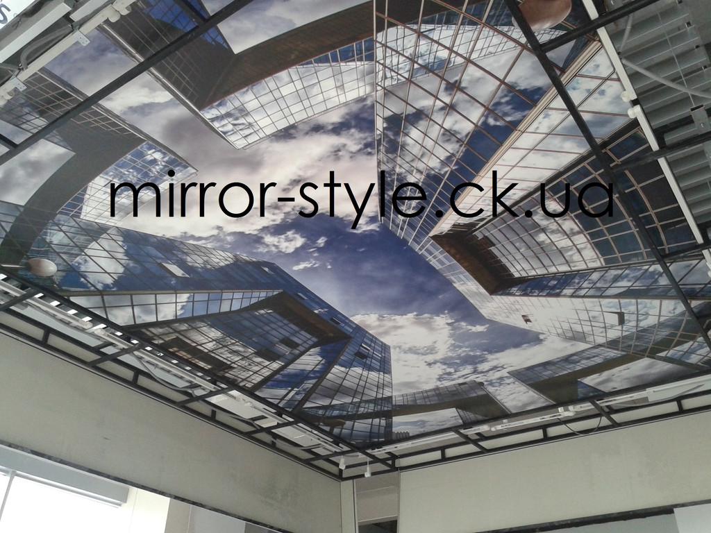 """Матовый натяжной потолок с фотопечатью ТРЦ """"Depo't center"""