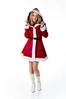 Санта женский новогодний костюм