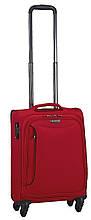 Малый 4-колесный чемодан тканевый 38 л. March Delta 2783/01 красный