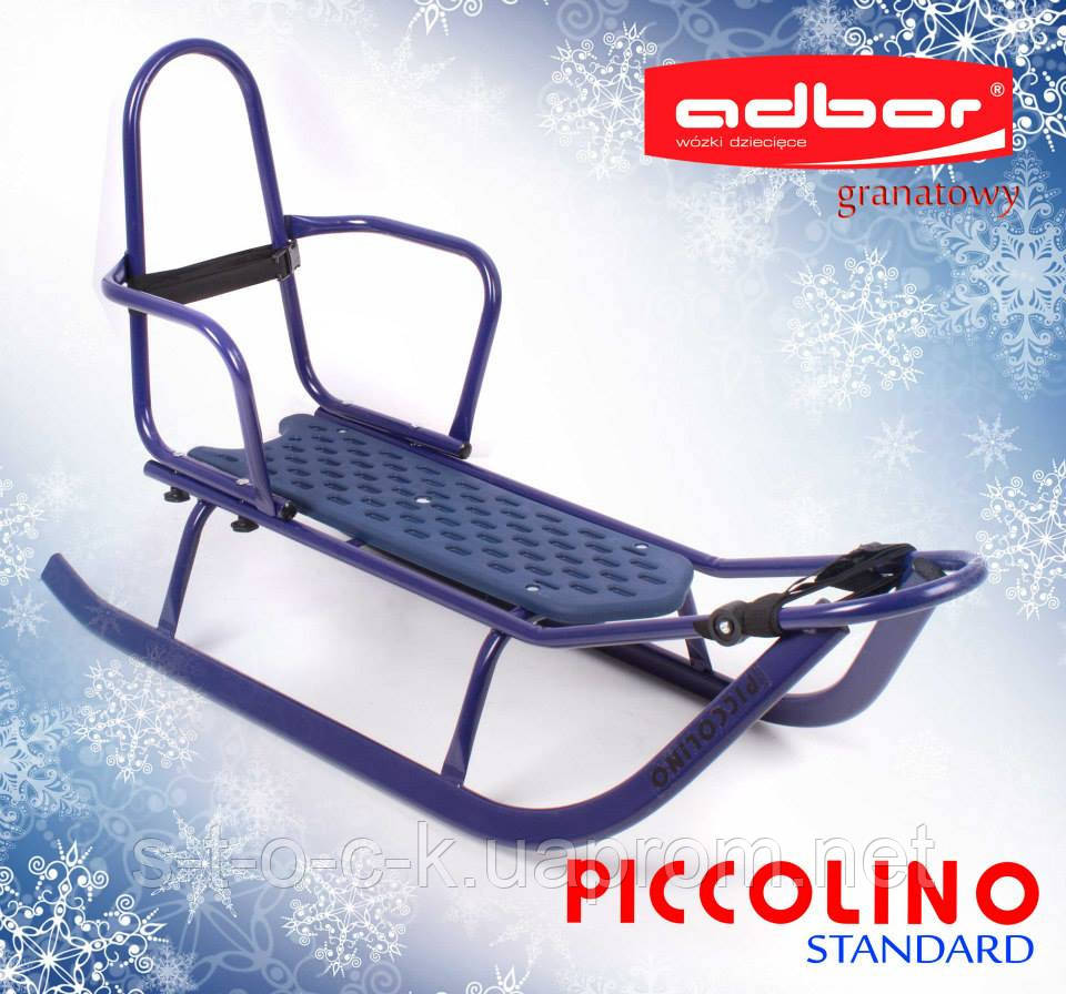 Санки  Adbor Piccolino со спинкой