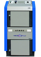 Пиролизный газогенераторный котел на твердом топливе ATMOS DC 32 S (Атмос)