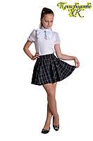 Подростковая юбка в школу клетка р 134-158