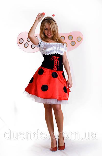 Божья коровка женский карнавальный костюм / BL - ВЖ18