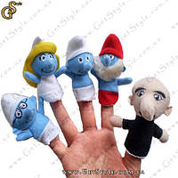 "Куклы на пальцы - ""Смурфики"" - 5 шт., фото 1"