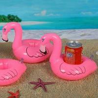 Надувной держатель-подставка для напитка Фламинго