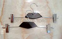 Вешалка-щип с чёрной деревянной вставкой с прищепками