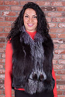 Женский жилет меховой  из чернобурки.