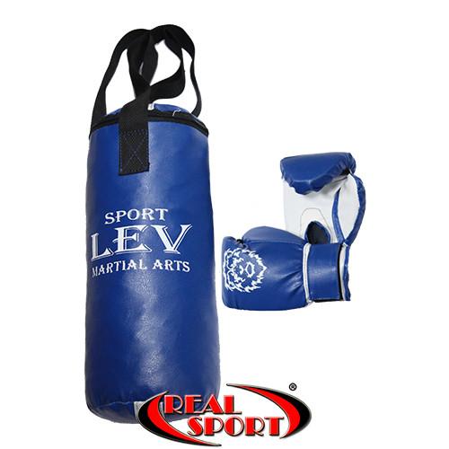 Набор для бокса детский. Мешок + перчатки, синий