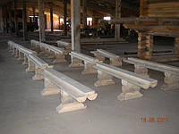 Скамейки, столы, беседки со сруба. Как это делается.