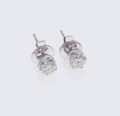 Женские серьги из белого золота с бриллиантами С26Л1№5
