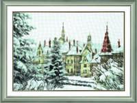 Набор для частичной вышивки крестом  Рождество в Карпатах