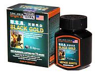 Возбуждающие препараты  для мужчин Черное золото - препарат для увеличения потенции 16 капул в упаковке