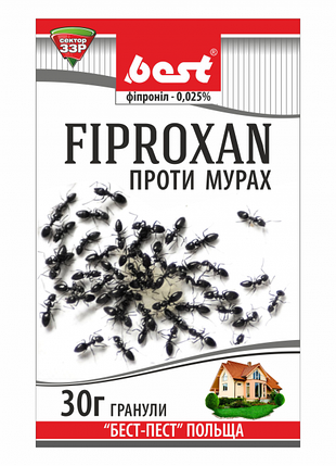 Инсектицид Фипроксан (30 г) – готовые гранулы для борьбы со всеми видами муравьев в помещении и на грунте, фото 2