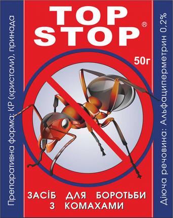 Топ Стоп 250 г — высокоэффективный инсектицидно-дезинфицирующее средство  для уничтожения всех видов муравьев, фото 2