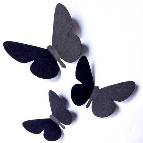 Декоративные 3Д бабочки Лето (набор 3d наклеек)