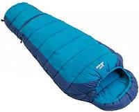 Комфортный подростковый спальный мешок Vango Wilderness Convertible/12°C/ River Blue, 922505 синий