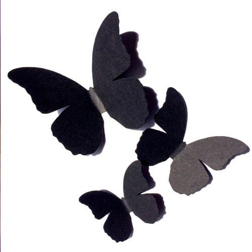 Декоративные интерьерные 3d бабочки набор Монарх (3Д наклейки из картона)