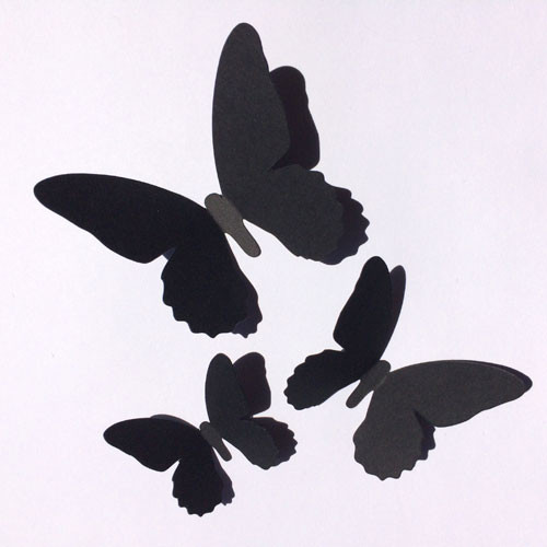 Комплект декоративных 3d бабочек Мотылек (3Д декор наклейки из картона)