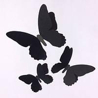 Комплект декоративных 3d бабочек Мотылек (3Д декор наклейки из картона), фото 1