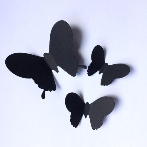 Набора декоративных 3d бабочек Павлин (3Д наклейки из картона)